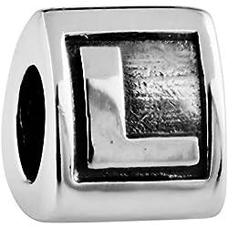 TAOTAOHAS Damen - European Armband Charms Beads, Antik Sterling-Silber 925 Alphabet Perle , Buchstabe L