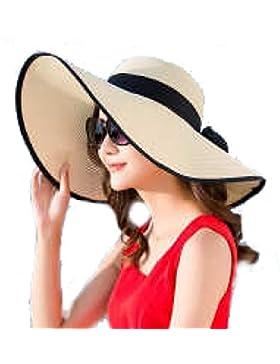 Sombrero Del Verano Mujeres Sombrero De Sol De Protección Plegable De Ala Ancha Sombrero De Sun Playa Cap Cap...