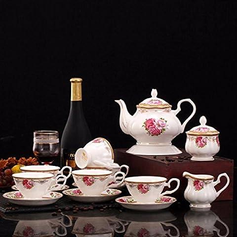 ZHGI Ceramica di tazza da caffè set regalo 15 piastre del cranio impostare tazzina e piattino impostato