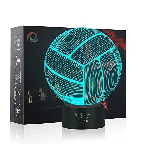 Restaurant Tisch Sockel (Volleyball 3D Lampe Optische LED Täuschung Nachtlicht,Yunplus 7 Farbwech ändern Berühren Sie Botton Schreibtisch Lampe Tischleuchte)