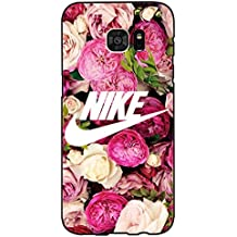 Good Looking Flower Background Nike Phone Case Cover for Coque Samsung Galaxy S7 Edge Just Do It Luxury Pattern,Cas De Téléphone