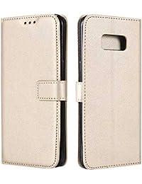 f71d3a356b DENDICO Cover Galaxy S8 Plus, Cover in Pelle Flip Custodia a Libro con Porta  Carte