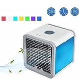 WFH Condizionatore D'aria Portatile Mini Space Air Cooler, Umidificatore E Purificatore Con 7 LED Luci A LED Per Camera, Ufficio, Esterno (7 LED COLOR)