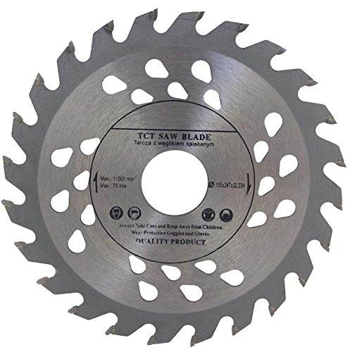 Hoja de sierra de gran calidad para amoladora angular  115mm  para discos de corte de madera  circular  115x 22mm  con 24dientes