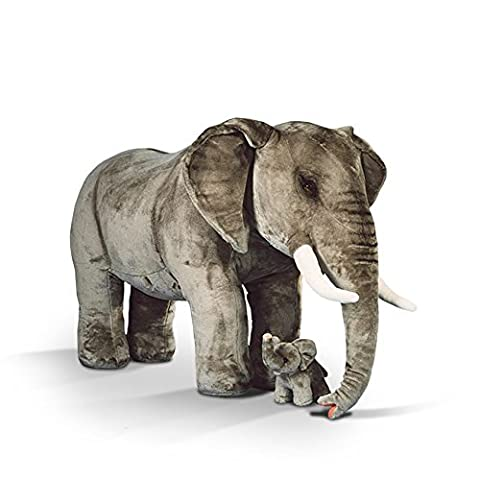 Elefant Riesen-Kuscheltier - Elefant inkl. inwendigem Gestell mit 150 kg Traglast, 220 cm, Preis gilt nur für den großen Elefant - Plüschtier von Steiner - handgefertigt in Deutschland - XXL Kuscheltier