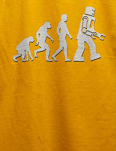 Robot Evolution Big Bang Theory T-Shirt Gelb