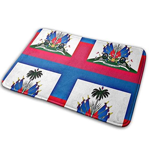 mfsore LNUO-2 Indoor Outdoor Zerbino di Benvenuto Tappeto Bandiera haitiana Tappetini da Terra per Patio, tappeti da Scarpe