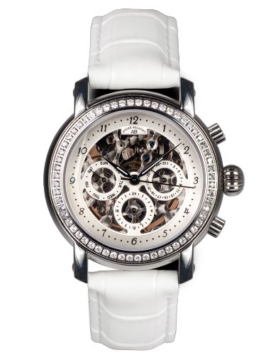André Belfort Women's Intemporelle Ip Watch 410141 Silver Leather