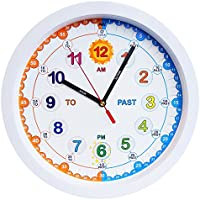 Aniclock Time Teacher Children Wall Clock Easy To Read With Silent Movement Teach