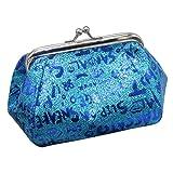 Jaminy Mädchen Schultertaschen Mini Geldbörse Brieftasche Tasche PU-Leder Zipper Key Wallet Geldbörse Kleine Tasche Münzen Beutel kleine Mappe Makeup Tasche Schlüssel beutel Tasche (Blau)