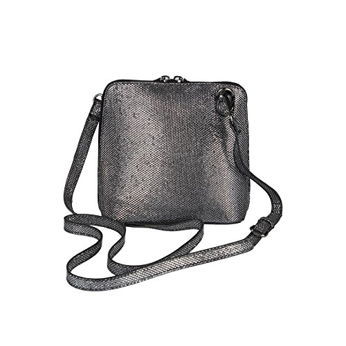 OBC Only-Beautiful-Couture, Borsa a spalla donna argento bronzo ca.: 20x17x8 cm (BxHxT) nero/argento