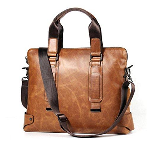 ZXH neue Herren Aktentasche Leder Casual Mode Laptop Tasche erste Schicht aus Leder (Handtasche Kosmetiktasche Bow)