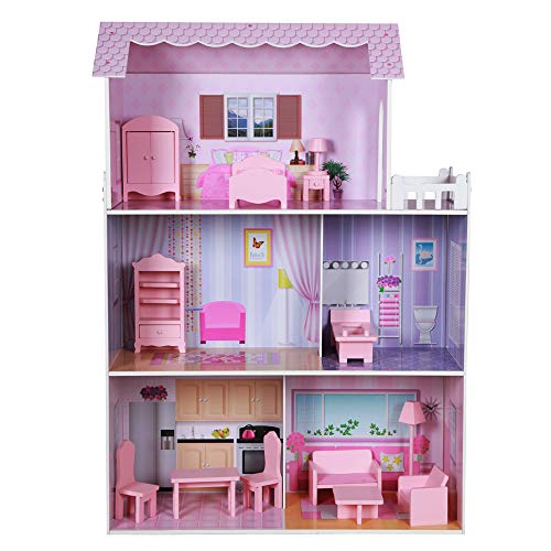 Play & Learn - Casa de muñecas de madera (ColorBaby 85293)