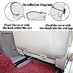 512NaRtf0VL._SS150_ HONCENMAX Auto Sitzauflage Sitzkissen Universal Sitzauflagen Autositzbezüge - BambusKohle PU Leder - [Ohne Rückenlehne] 2+1 Vorder und Rücksitzbezüge
