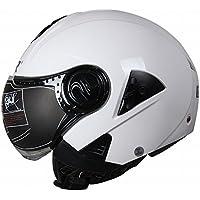 XIU Motocicleta Coche Eléctrico Harley Casco Casco de Casco de Lente Doble Medio Casco de Seguridad