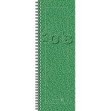 Brunnen 107820150 Tischkalender/Vormerkbuch Modell 782, 1 Seite = 1 Woche, 100 x 297 mm, Karton-Umschlag grün, Kalendarium 2018, Wire-O-Bindung