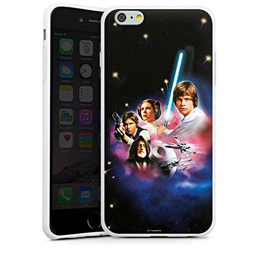 Apple iPhone X Silikon Hülle Case Schutzhülle Star Wars Merchandise Fanartikel A new hope Silikon Case weiß