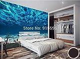 ZAMLE Personnalisé Photo Papier Peint 3D Paysage De Mer Profonde Grand Mur De Papier Peint Décorations Murales Salon Chambre Papier Peint pour Les Murs 3 D, 400x280cm