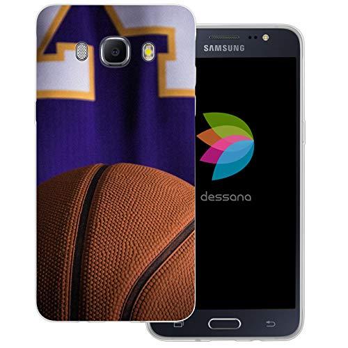 dessana Basketball transparente Schutzhülle Handy Case Cover Tasche für Samsung Galaxy J5 (2016) Basketball Spieler