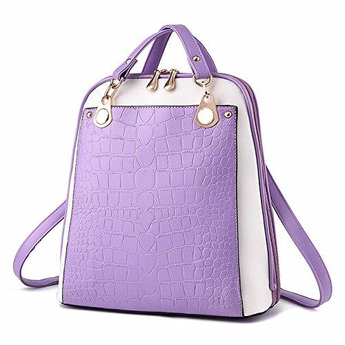 ms. pu 's rucksack student tasche,obst grün violet