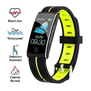 Wysgvazgv Fitness Tracker Reloj pulsera Activity Tracker pulsómetro de muñeca monitor del sueño presión sanguigna IP68… 12