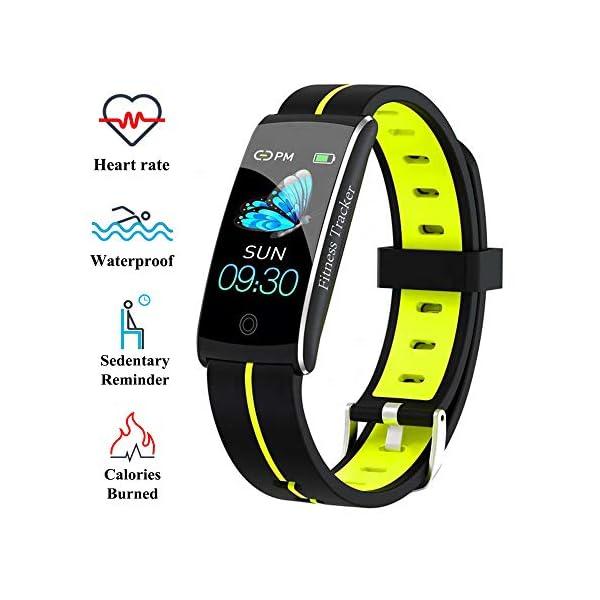 Wysgvazgv Fitness Tracker Reloj pulsera Activity Tracker pulsómetro de muñeca monitor del sueño presión sanguigna IP68… 2