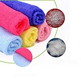 Lyanther Exfoliator Skin Towel Nylon Towel Long Bath Cloth For Shower, Sauna, Spa, Body Wash 4pcs (Random Color)