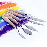 5 stücke Edelstahl Spachtel Holzgriff Malerei Messer Set für Ölfarbe Mischen