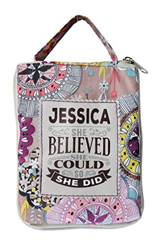 H & H Praktische Top loslegen Tasche/Shopper/Einkaufstasche–Personalisiert, die der Name Jessica