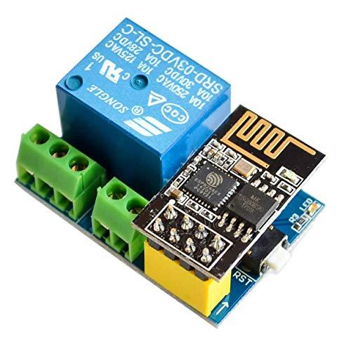 IZOKEE ESP8266 Relè con ESP8266 ESP-01S Serial WiFi Modulo per Arduino Uno R3 Mega2560 Nano Raspberry Pi