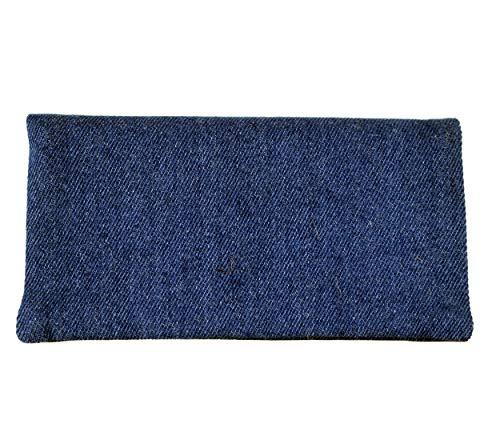 Plan B Tabakbeutel YOLO Jeans (17,5 x 8,5 cm) mit Eva-Gummi Tasche Bis mit zu 50 Gramm Tabak Blau -