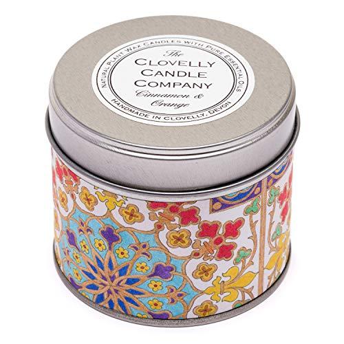 Clovelly Soap Co. Handgemachte natürliche Duftkerze Zimt & Orange Aromatherapie Soja Wachs Vegan Dosenkerze