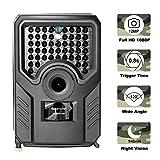 Loozykit Wildkamera 1080P Jagdkamera Beutekameras mit 940nm IR LED's Sensoren mit Bewegungsaktivierung Nachtsicht wasserdichte IP56 Überwachungskamera