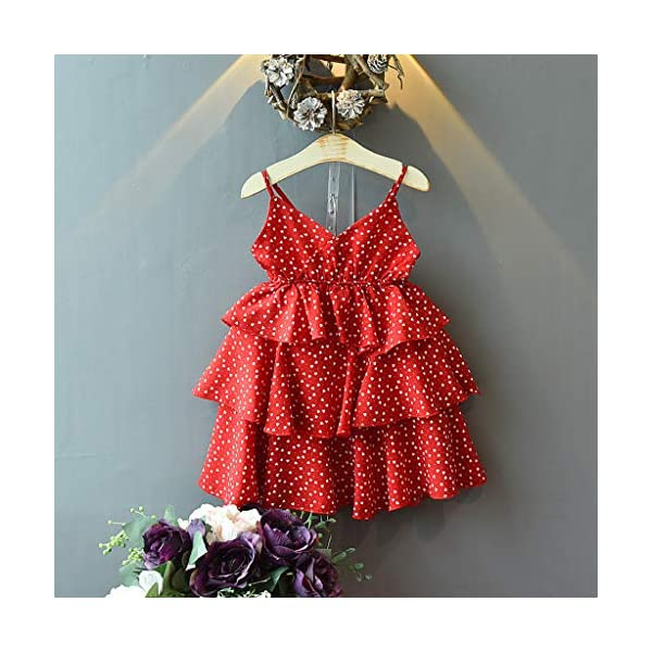JYC 2019 Baby Girl Dresses | Toddler Kids Clothes Sleeveless Love Printing Party Princess Dress (Red120/13) JYC - Baby Clothes Recommended Age:2-3 Years Label Size:7/90 Bust:52cm/20.47'' Length:53cm/20.87'' Height:85-90cm Recommended Age:3-4 Years Label Size:9/100 Bust:54cm/21.26'' Length:55cm/21.65'' Height:95-100cm Recommended Age:4-5 Years Label Size:11/110 Bust:56cm/22.05'' Length:58cm/22.83'' Height:105-110cm 2