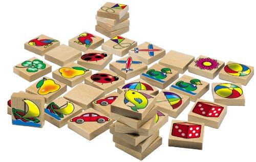 Eichhorn - 100072402 - Holz Bilder-Memo Spiel, 40-teilig, mit 20 verschiedenen Motiven, aus Buchenholz - Made in Germany