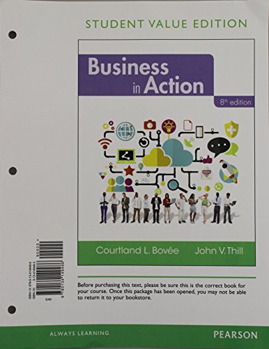 Business in Action, Student Value Edition