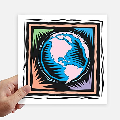 DIYthinker Mysterious Blue Earth mexikanische Element Gravieren Quadrataufkleber 20Cm Wand Koffer Laptop Motobike Aufkleber 4Pcs 20Cm X 20Cm Mehrfarbig