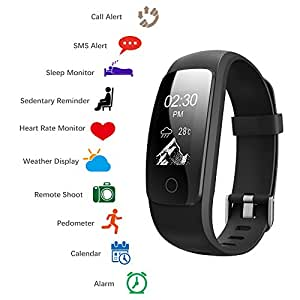 montre connect e fitness tracker d 39 activit avec cardiofr quencem tre etanche ip68 montre sport. Black Bedroom Furniture Sets. Home Design Ideas