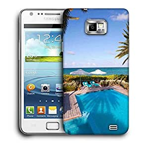 Snoogg Swimming Pool Printed Protective Phone Back Case Cover For Samsung Galaxy S2 / S II