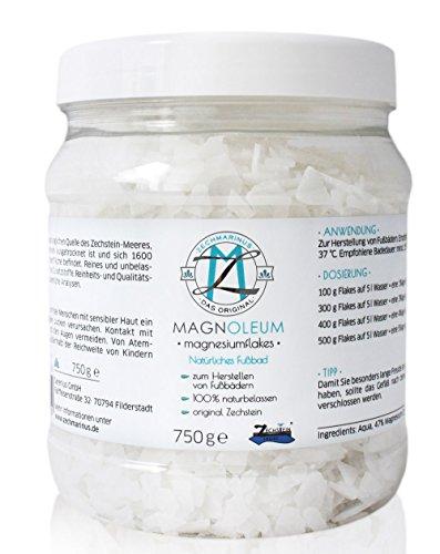 Magnesium Fußbad - Original Zechstein Magnesiumchlorid – Magnesium Flakes dermatologisch klinisch bestätigt – Handliche Größe & Wiederverschließbar