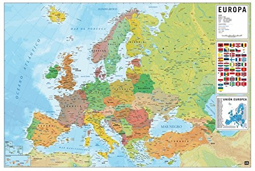 Grupo Erik Editores, S.L. - Póster mapa europa-e