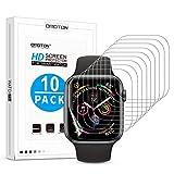 OMOTON [10 Stück] TPU Schutzfolie für Apple Watch Series 4 (44mm) / Apple Watch Series 3/2/1 42mm, vollständige Abdeckung,Ultra-dünn,Anti-Fingerabdruck,Anti-Schmutz,Anti-Reflex,Hoch Transparenz