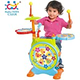Sunshine Finest Unbreakable Drum Set Toy with Music, Lights, Interactive Play and Much More for Kids