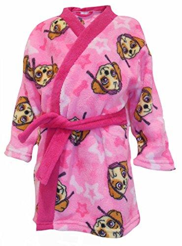 Paw Patrol Pink Skye Girls Soft Fleece Bathrobe Dressing Gown Gift Set (4-5 Years)
