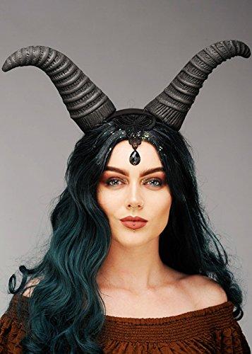 Königin Maleficent Style Horns Headpiece ()
