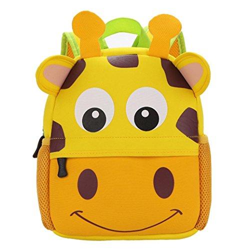 ❤️XINANTIME – Bolsa Escuela Bolso Escolar Dibujos Animados Infantil Viaje Mochila para Guardería Primaria Niño Niña (21cm (L) * 26 (H) * 8cm (W), ❤️Jirafa)