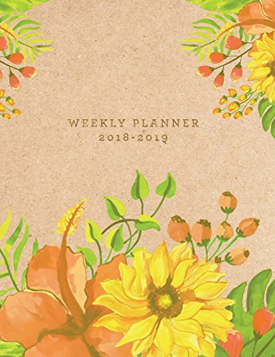 Planner 2018-2019: Floral 2018-2019 Planner | 18-Month Weekly View Planner | To-Do Lists + Motivational Quotes | Jul 18-Dec 19: Volume 1 (18 Month Planners) por Jolly Journals