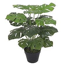 Leaf Artificial Monstera Plant 60cm Black Pot