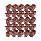 UPKOCH 100 Pezzi di Carta USA e Getta Muffin Tazze Fodere per Cupcake Tazze da Forno Involucri per Cupcake (caffè)