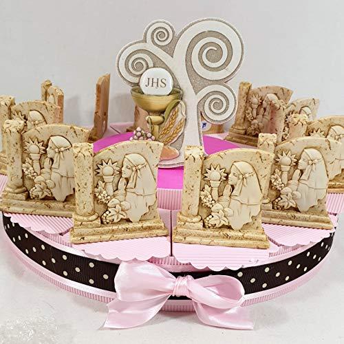 Bomboniere albero della vita comunione bambina torta 12 fette + centrale albero + confetti